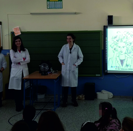 International Day of Women and Girls in Science, February 8, CEIP Pedro Garfias, Sevilla (Spain)